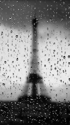 ↑↑TAP AND GET THE FREE APP! Art Creative Black White Paris Travel Rain France Autumn HD iPhone Wallpaper