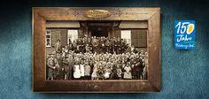 Große Feiern mit allen Generationen gehören seit jeher zum Feldberger Hof. Hier seht ihr ein Bild aus den 1920er Jahren auf dem auch einige hohe Honorationen aus der Region zu sehen sind.