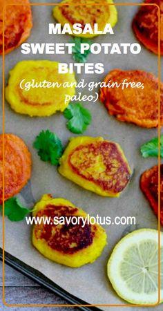 Masala Sweet Potato Bites (gluten and grain free, paleo) -  savorylotus.com