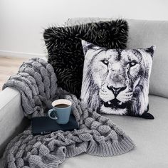 Get ready to rug up with our new Winter 2017 Homewares Collection featuring the Lion 45cm Cushion $24.95