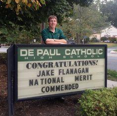 DePaul Catholic Senior Named Commended Student by 2015 National Merit Scholarship Program