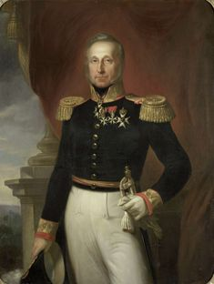 Portrait of Dominique Jacques de Eerens, Governor-General of the Dutch East Indies. 1855-1858