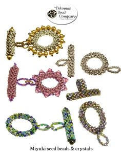 Seed bead toggles from The Potomac Bead Company  http://www.potomacbeads.com