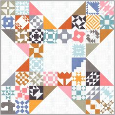 This is the Zen Chic version of the free SEWCIALITES Sew Along, hosted by Fat Quarter Shop. My layout is inspired by Tracy Bes from the Sewcialites Lounge. Fat Quarter Quilt, Fat Quarter Shop, Sampler Quilts, Scrappy Quilts, Modern Quilt Patterns, Color Studies, Cool Fabric, Quilting Designs, Quilting Tips