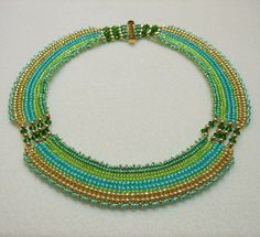 "Free ""Cleopatra"" Necklace Pattern from Laura's Beads  Jewelry Boutique featured in Bead-Patterns.com Newsletter!"
