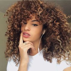 The curl definition on this curly hair is crazy.