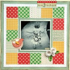 Love the black and white against the background and the cute flowers in the corner. Scrapbook Paper Crafts, Diy Scrapbook, Scrapbooking Layouts, Grid Layouts, Make Your Mark, Scrapbooks, Black And White, Frame, Cards