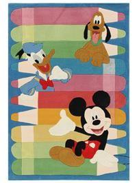 Tapis enfants Mickey, Donald et Pluto
