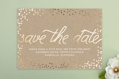 Starlight Save The Date Postcards by Saltwater Designs at minted.com
