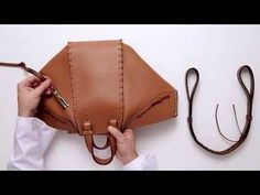 [POPBEE Exclusive] LOEWE Laced Hammock Bag - YouTube Leather Gifts, Leather Bags Handmade, Handmade Bags, Leather Bag Pattern, Sewing Leather, Loewe Hammock Bag, Loewe Bag, Diy Handbag, Diy Box