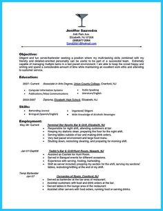 Wonderful Cool Impress The Recruiters With These Bartender Resume Skills, Check More  At Http:/ On Bartender Skills Resume