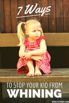 Check out these simple tricks for getting your kid to stop whining! Super helpful parenting tips for toddlers to preschoolers and older kids, too. Perfect for when kids beg and pout for something they want!