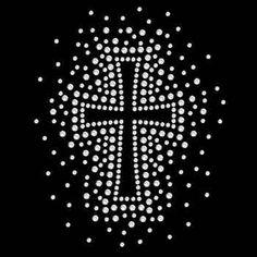 Womans T Shirt Splash Cross Rhinestone 3 X 4 Inches SMALL Graphic RCS0110