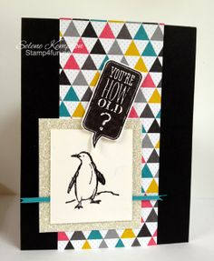 Stamp 4 fun with Selene Kempton: 2/21 Stampin Up Masculine, You're How Old??