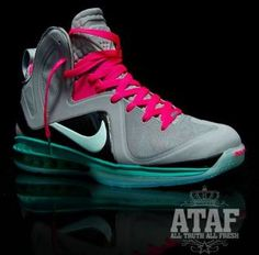 Nike LeBron 9 PS Elite South Beach Black MediumTurquoise