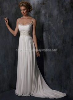 Beach wedding dress...love this, wish it were strapless. Then it would be absolutely perfect!