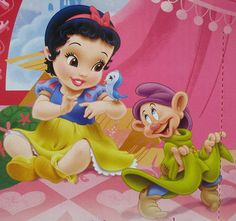 *SNOW WHITE & DOPEY ~ Snow White and the Seven Dwarf's, movie released: 1937