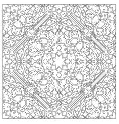 Very detailed mandala for Very detailed coloring pages