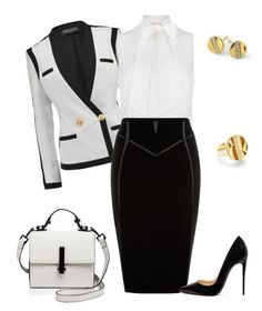 """outfit 5400"" by natalyag ❤ liked on Polyvore featuring Balmain, MICHAEL Michael Kors, Christian Louboutin, Kendall + Kylie and Ippolita #casualworkoutfit #workoutfits"