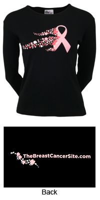Flower Festival Pink Ribbon Long Sleeve Tee at The Breast Cancer Site