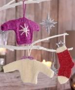 20. Dezember - Minipullover und Socken als Anhänger, R0097 - Gratisanleitung