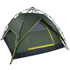 Leapair Instant Person Tent Pop Up Hydraulic Pressure Automatic Tents for C&ing Fishing Outdoor Over-Night Trips Green  sc 1 st  Pinterest & CORE 3 Person Instant Dome Tent Camping Outdoor Hikking Quick ...