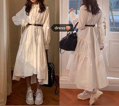 Vintage Dresses 1960s, Vintage Outfits, Muslim Fashion, Korean Fashion, Stylish Dresses, Cute Dresses, Daily Dress, Funky Fashion, Mode Hijab