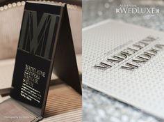 Mr. and Mrs. Smith Styled Wedding Photo shoot - Invitation - WedLuxe Magazine
