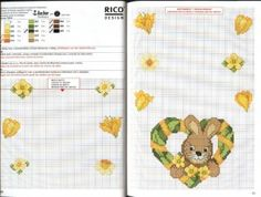 Cross-stitch Easter Tablecloth...   hearts | Мои рукодельки