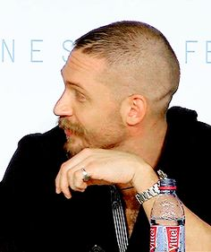 Tom Hardy at the Mad Max: Fury Road press conferece at the 68th Annual Cannes Film Festival