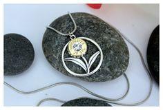 """Bullet Jewelry - Sterling Silver """"Wildflower"""" Bullet Pendant - brass casing"""