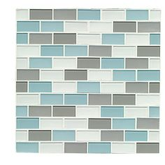"""Found it at Wayfair - Shoreline 0.94"""" x 1.88"""" Glass Mosaic Tile in Clearwater"""