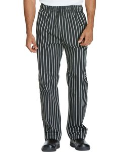 Unisex Traditional Baggy Chef Pant - CHALK STRIPE - LICENSEE