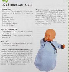 El mundo de los nenucos: Otro saquito para los nenucos Knitting For Kids, Baby Knitting Patterns, Doll Patterns, Baby Doll Clothes, Baby Dolls, Doll Making Tutorials, Knitted Dolls, Rubber Duck, Doll Accessories