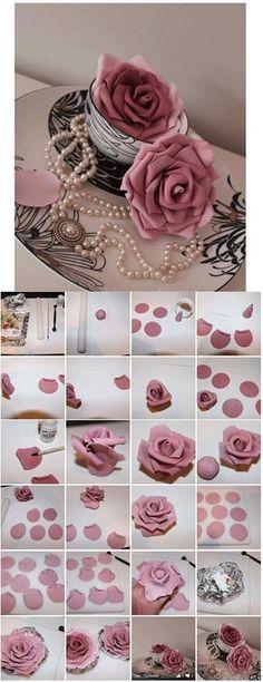 Как сделать розу, розы из мастики для украшения торта своими руками?