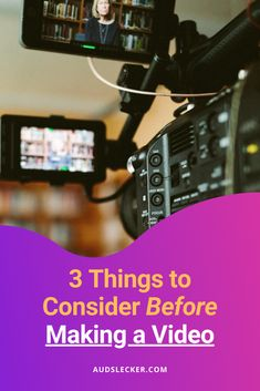 Most people don't think about WHY something needs to be a video... Focus 3, Make A Video, Pet Peeves, 3 Things, Digital Marketing, Videos, Youtube, People, How To Make