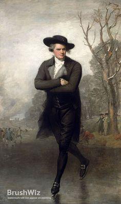 Portrait Of A Gentleman Skating by Gilbert Stuart - Oil Painting Reproduction - BrushWiz.com