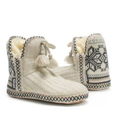MUK LUKS Winter White Amira Slipper Bootie | zulily