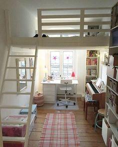 49 stylish loft bedroom design ideas bedroom bedroom loft, g Loft Room, Bedroom Loft, Bedroom Decor, Bedroom Ideas, Bed Ideas, Bedroom Storage, Loft Bed Room Ideas, Warm Bedroom, Attic Bedrooms
