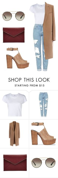 """""""Untitled #43"""" by alexa-str on Polyvore featuring RE/DONE, Topshop, Rebecca Minkoff and Prada"""