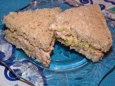 Tuna Salad and Celery Tea Sandwich Recipe: A classic tea sandwich with a little extra bite.