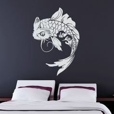 6cd77ca4b81 Koi Fish Wall Decal Japanese Vinyl Sticker    Be sure to check out this  awesome product.