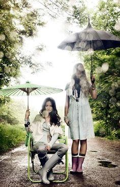 wellies / brollies - embracing the rain