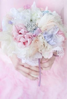 "throughpastelrosetintedglasses: "" Pastel bouquet on etsy """