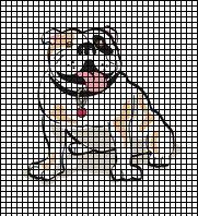 Friendly Bulldog Crochet Pattern Crochet Crafts, Crochet Yarn, Crochet Stitches, Crochet Ideas, Afghan Crochet Patterns, Cross Stitch Patterns, Knitting Patterns, Art Patterns, White Bulldog