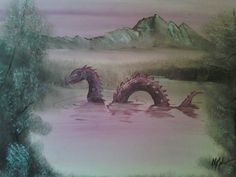Adding Monsters to Thrift Store Paintings http://chr15t0ph3l35.deviantart.com/