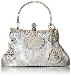 MG Collection Ginny Beaded Rose Evening Bag, Black, One Size: Handbags: Amazon.com