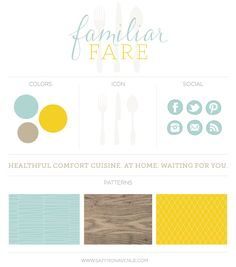 Brand Design: Familiar Fare | Personal Chef service « Saffron Avenue Saffron Avenue