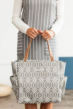 A stylish breast pump tote bag from Petunia Pickle Bottom. Yay!
