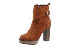 8033043825592 | #MANAS #Damen #High-Heel-Stiefelette #braun